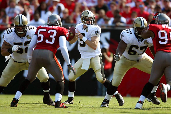 As a result of Hurricane Katrina, the Superdome became the home of refugees instead of touchdown passes in 2005. Although the Saints didn't play one game in New Orleans that year, the road trip to end all road trips paid off in 2006, when Drew Brees and Co. won six games away from home.