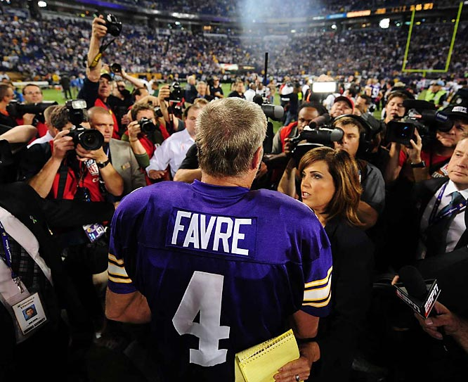For a guy who has given retirement a thought or two, Favre can still draw a crowd.
