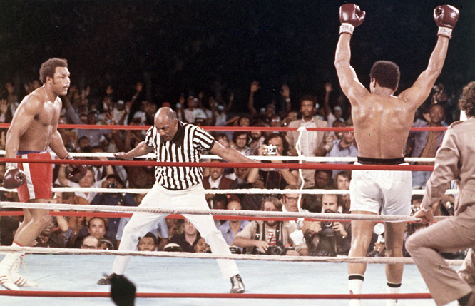 After eight grueling rounds, Ali was named victor by knockout.