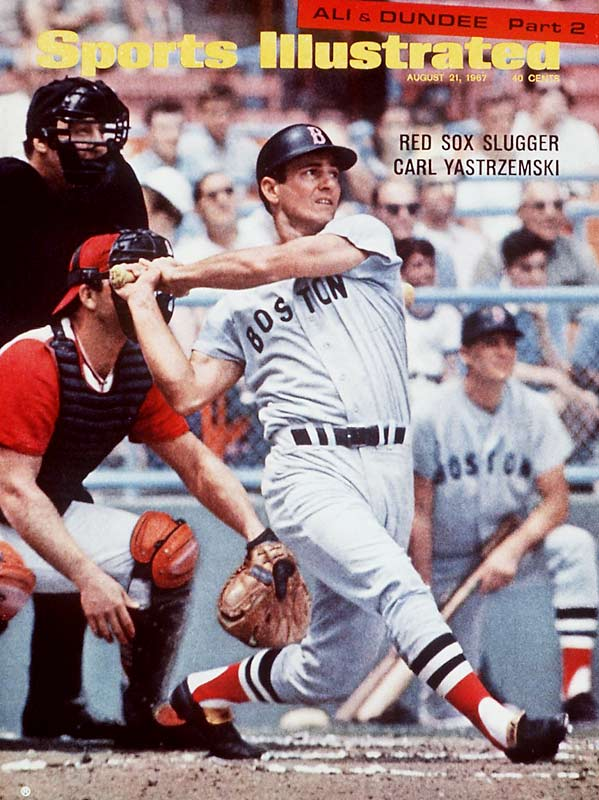 On the last day of the season, Carl Yastrzemski collects four hits to help the Red Sox beat the Twins, 5-3. Yaz's remarkable streak of getting 10 hits in his final 13 at-bats enables him to win the Triple Crown (.326, 44, 121).