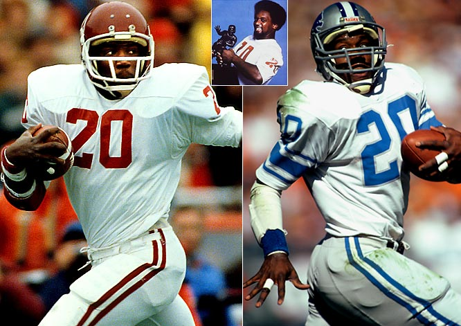 He set the Oklahoma rushing record en route to winning the 1978 Heisman, Sims was taken with the first overall pick by Detroit in 1979. He had a strong start to his career, making the Pro Bowl team in three of his first four seasons before a knee injury cut his career short in 1984. Despite the injury, He retired with 5,106 career yards and 42 touchdowns.