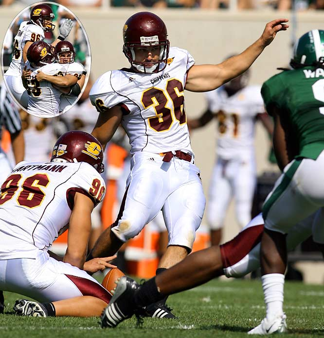 After a potential game-winning two-point conversion failed, the Chippewas recovered an on-side kick with 29 seconds remaining. Four plays later, Andrew Aguila hit a 47-yard field goal with eight seconds left to give Central Michigan the win.