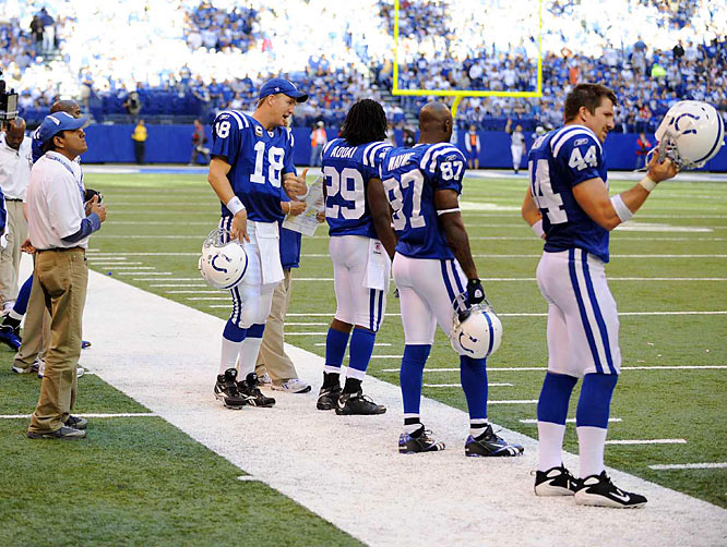 With Joseph Addai, Reggie Wayne and Dallas Clark at his disposal, Manning has a quick-strike offense.