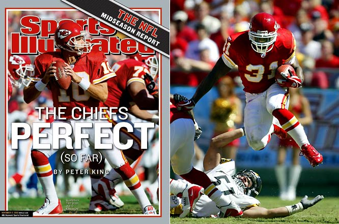 In a season in which Priest Holmes broke Marshall Faulk's single-season touchdown record and Dante Hall tied an NFL single-season record with four kickoff returns for touchdown, the Chiefs got off to the best start in team history. Cincinnati snapped the streak with a 24-19 win at home.