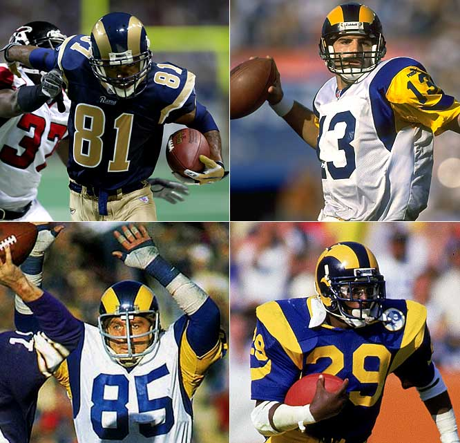Say this much about the Rams, they can certainly get on a roll.  All four teams that won seven straight also ended up taking the NFC West title. The L.A.-based '78 and '85 squads won their first seven of the season; the St. Louis-based '03 went undefeated from Weeks 10-16 and the St. Louis-based '99 team enjoyed two seven-game streaks in the same season en route to winning the Super Bowl behind Kurt Warner and Marshall Faulk.