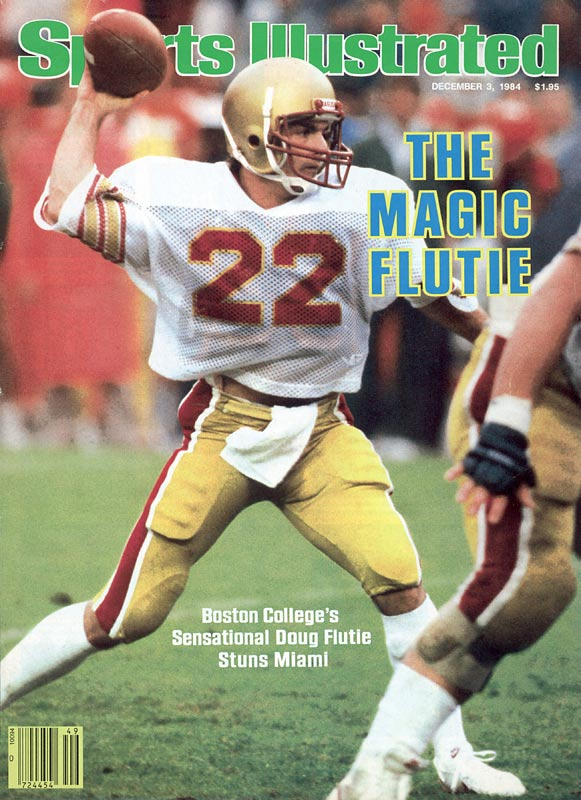 Boston College defeats Miami, 47-45, on Doug Flutie's last-second 64-yard Hail Mary pass.