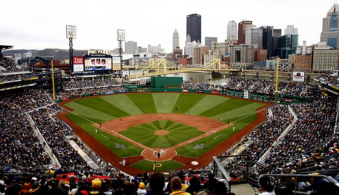 One of the jewels of the modern wave of ballparks, PNC Park is a far cry from the characterless Three Rivers Stadium that it replaced. Taking advantage of the city skyline, the stadium has become a must-see attraction for visitors to the Steel City. Its two-deck seating plan creates an intimate fan experience, with no seat more than 88 feet away from the field.