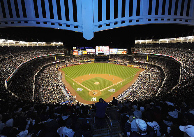 Located across 161st Street from the House that Ruth Built, the Yankees' new home opened in style as the Bombers won the World Series in 2009. The new home features a giant high-definition screen in center field, gourmet food in private clubs and ample food courts and luxurious seating throughout the stadium.