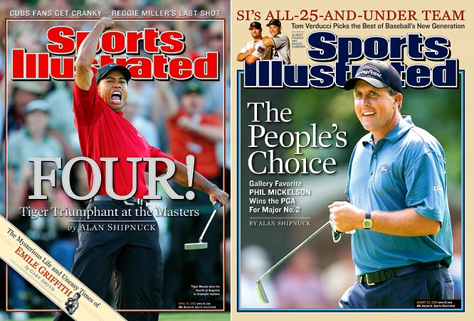 Despite Woods' constancy (we're talking about on the course) and Mickelson's roller-coaster inconsistency over the years, they remain 1 and 1-A, the one rivalry that has outlasted Woods vs. Els, Woods vs. Garcia, Woods vs. Harrington and Mickelson vs. his own foolish shot selection. Woods vs. Mickelson truly mattered, not just because of their primacy as players but also because they were, like Magic Johnson and Larry Bird once were, the archetypes of record. Woods the steely-eyed master of his domain, Mickelson the gambling, smiling, club-twirling man of the people. As a fan, you were to some extent either a Phil Guy or a Tiger Guy.