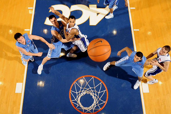 As the decade dawned, Duke dominated the sport, especially North Carolina, winning 12 of the first 14 meetings en route to two Final Fours and a national title. But the Tar Heels have returned to the top, with three Final Fours and two national championships since 2005 and a 7-2 record against Duke. The 10-year tally is testament to two terrific teams: playing in the Final Four more years (six) than not (four), combining for three national titles, nine ACC tournament titles and four national players of the year. Facing off in the national title game is the only thing they haven't done. Yet.