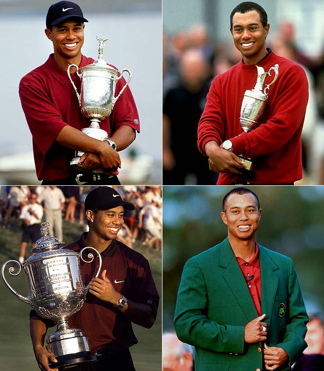"There was much debate over whether Woods' holding of all four major titles at the same time constituted a Grand Slam. Who cares? It is probably better that it has a name all its own -- the ""Tiger Slam"" -- as it better recognizes Woods' dominance over that period. Only four golfers have won all four majors in a career; Woods did it in a single 12-month period."