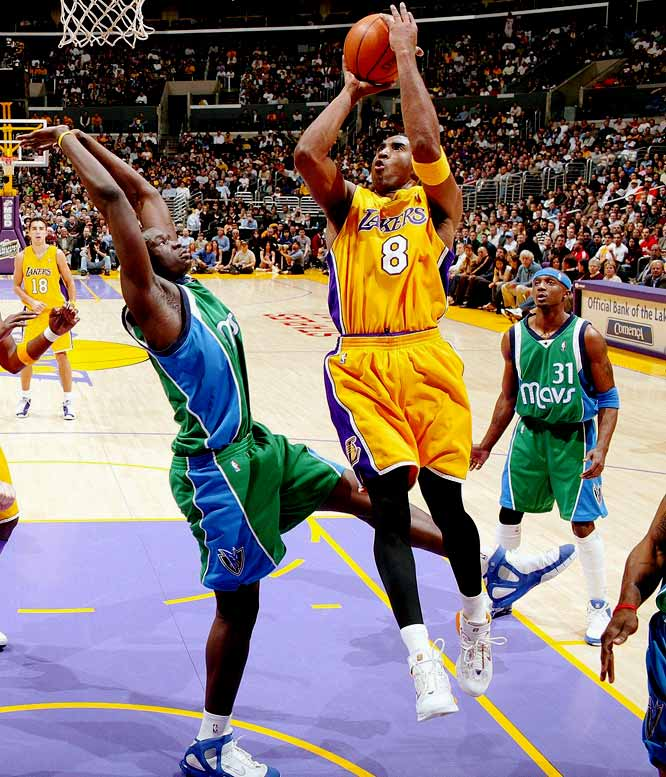 Kobe outscored the Mavericks 62-61 through three quarters and sat the rest of the way in the Lakers' 112-90 victory in Los Angeles. Bryant, who scored 30 points in the third quarter, made 18-of-31 from the field and 22-of-25 at the free-throw line in 33 minutes.