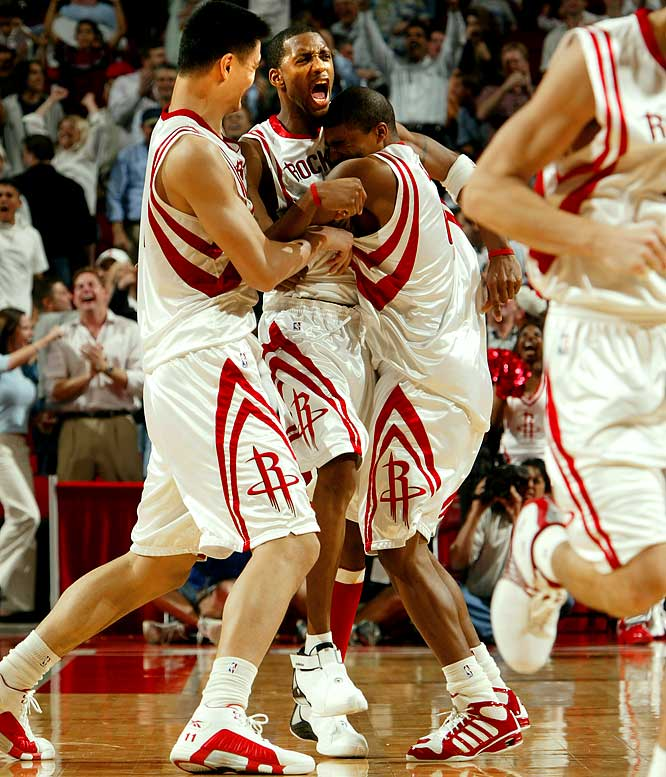 McGrady scored 13 points in the final 35 seconds to rally the Rockets past the Spurs 81-80. Houston trailed 74-64 with just over a minute remaining, but McGrady nailed four three-pointers down the stretch, including the game-winner with 1.7 seconds remaining. ''For all those fans who left the game early ... ya'll missed a great game,'' McGrady said.