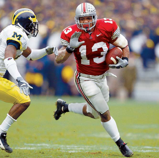 As a true freshman, Clarett rushed for 1,237 yards and 16 touchdowns and helped Ohio State to a national title. Then everything went haywire. He was suspended for the 2003 season for violating NCAA rules. He unsuccessfully sued the NFL to enter the 2004 draft. After being drafted by the Broncos in 2005, Clarett failed to make the team out of camp. In 2006, he was arrested after a highway chase and sentenced to 71/2 years in prison for aggravated robbery and carrying a concealed weapon. Clarett remains imprisoned in Toledo, Ohio.