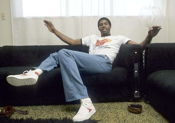 Before he was an NBA icon, Magic Johnson was a college student at Michigan State. In this photo shoot, Johnson gives SI a tour of the campus in his hometown of East Lansing.