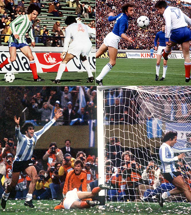 The Group of Death sobriquet was attached to Group 1 in 1978, when upstarts France and Hungary, who had been absent from the Cup for 12 years, joined juggernaut Italy and host Argentina. French maestro Michel Platini was the orchestrator of a brilliant midfield attack -- but France, along with Hungary, was ultimately no match for the group's heavyweights. Italy defeated Argentina 1-0 in the group's final match to win the group, but the hosts had the last laugh, as Italy finished fourth and the Argentines won their first World Cup.