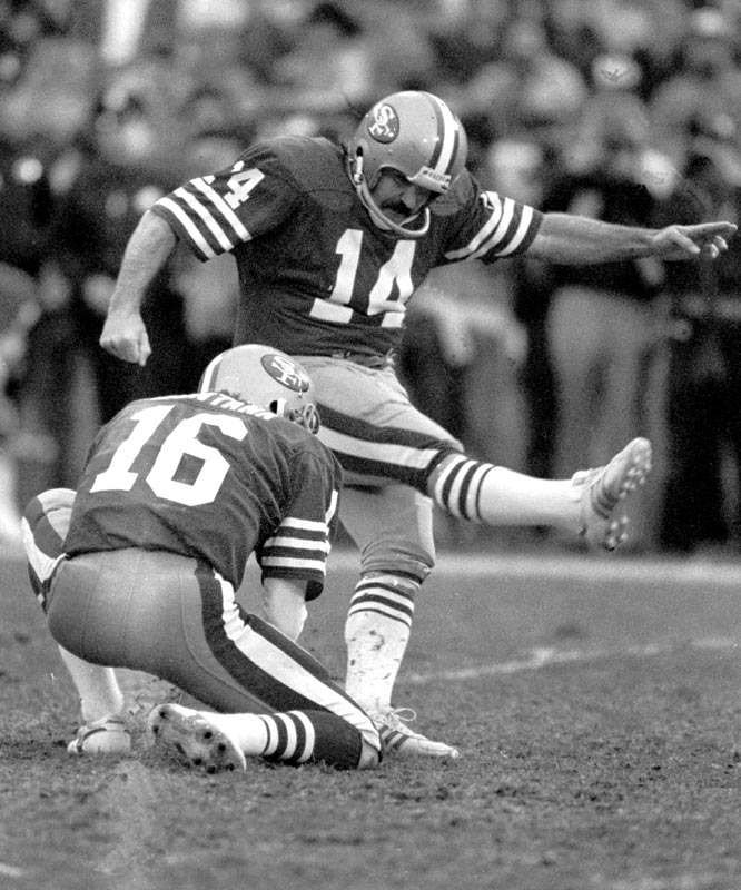 The San Francisco 49ers erase a 35-7 halftime deficit to record the biggest comeback in NFL history, beating the New Orleans Saints 38-35 in overtime on Ray Wersching's 36-yard field goal.