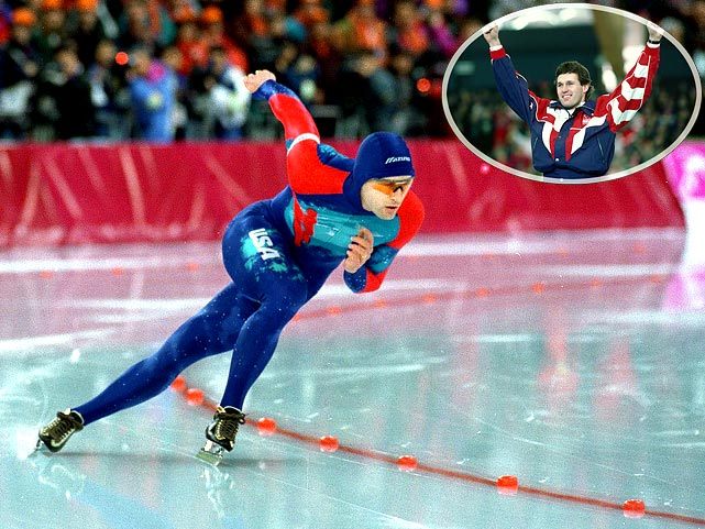 The speed skater's long-sought gold was one of the most emotional moments in Olympic history. After failing to medal in his Olympic debut in 1984, Jansen was favored to win gold in Calgary in 1988, but his sister's death left him shaken, and he fell in his two events (500m and 1000m). Four years later at Albertville, he finished fourth and 26th, respectively. Lillehammer was his final try. A slip in the 500 left him eighth, but his agonizing ordeal ended in the 1,000. Jansen skated a touching victory lap with his daughter Jane, named after his late sister, to whom he dedicated his medal.