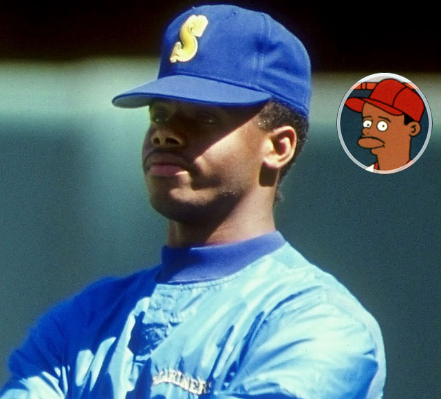 """Episode: Homer at the Bat  First aired: Feb. 20, 1992    Memorable Moment   After drinking a spoonful of brain & nerve tonic.   Griffey:  """"Wow, it's like there's a party in my mouth and everyone's invited.""""  Griffey proceeds to chug the bottle."""