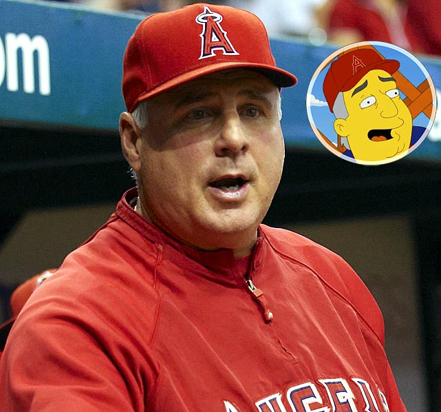 """Episode: MoneyBART First aired: Oct. 10, 2010   Memorable Moment   Marge:  """"Mike Scioscia!  Didn't you get radiation poisoning working at the Springfield nuclear plant?""""  Scioscia:  """"I sure did, and it gave me super managing powers.  I also demagnetize credit cards."""""""