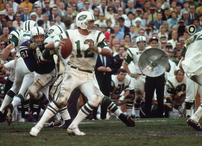 Namath completed 17 of 28 passes for 206 yards. He is the only quarterback to win Super Bowl MVP without throwing at least one touchdown pass.