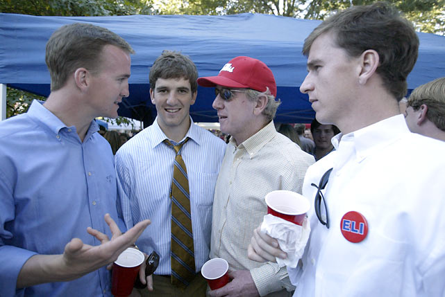 Peyton, Eli, Archie and Cooper enjoy a Saturday afternoon at The Grove in Oxford, Miss.