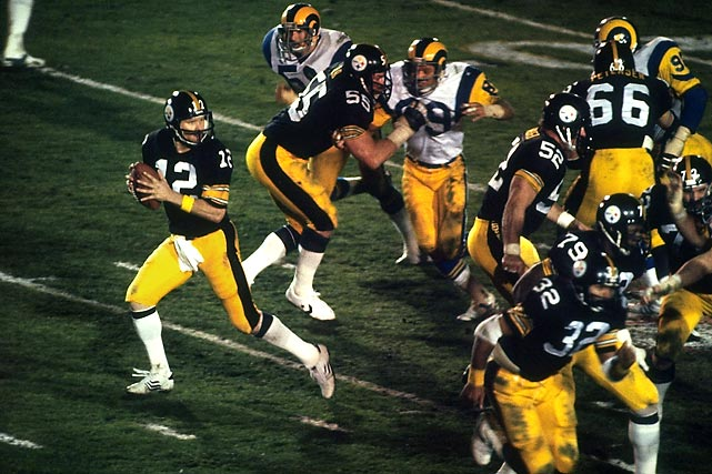 The 9-7 wild card Rams came close to pulling off an upset that would rank with the Giants over the Patriots. Los Angeles led Pittsburgh 13-10 at the half and twice in the fourth quarter, but Steelers QB Terry Bradshaw, who had been picked off three times, ultimately prevailed. His 73-yard scoring bomb to John Stallworth gave Pittsburgh the lead for good early in the fourth quarter, en route to a 31-19 win.