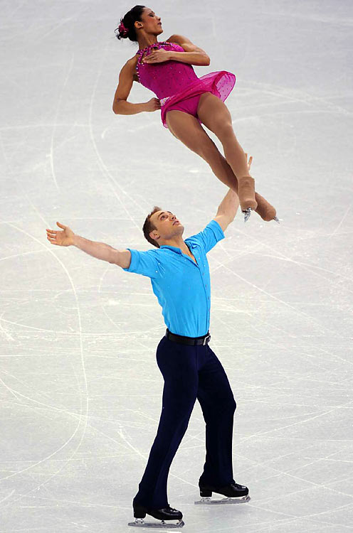 USA's Amada Evora and Mark Ladwig.