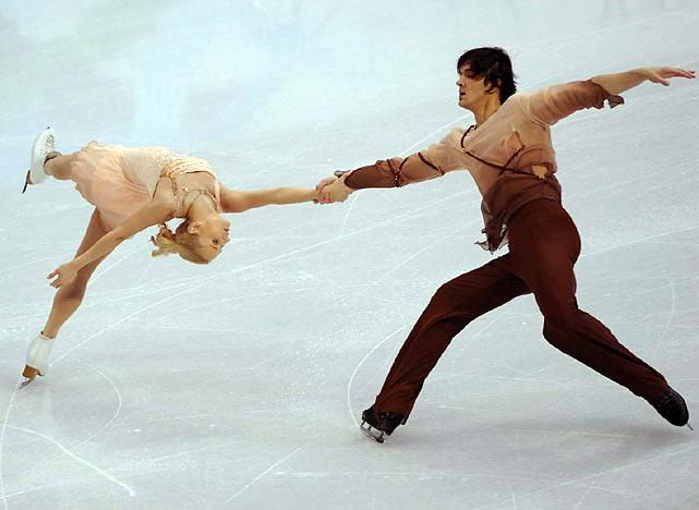 Russia's Maria Mukhortova and Maxim Trankov.