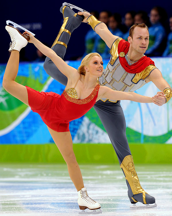 Men in sequins? Women in clown makeup? Figure-skating fashion is always entertaining and the athletes at the Vancouver Olympics have not disappointed. Here's a look at some of the most interesting outfits:<br><br>Germany's Maylin Hausch and Daniel Wende.