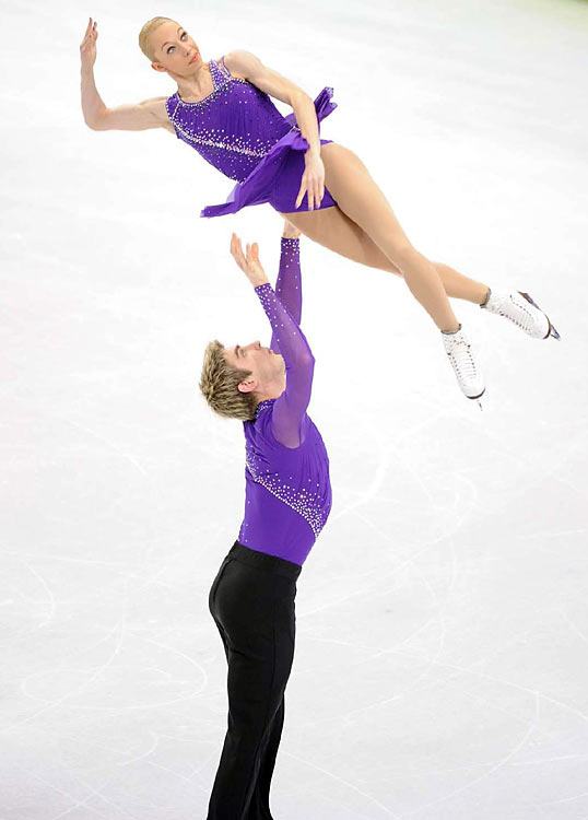 Great Britain's Stacey Kemp and David King.