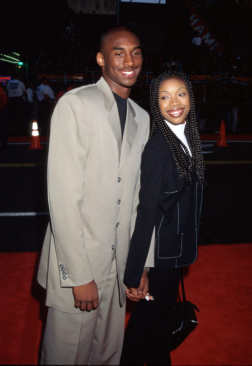 We all knew Bryant was a superstar when he took singer/actress Brandy to his high school prom in 1996. Stud.