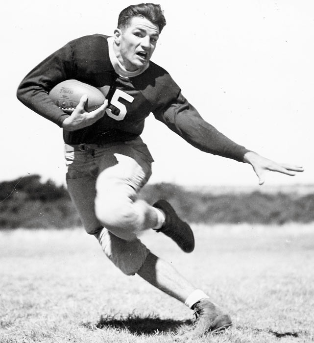 The Cardinals sign NFL Washington Redskins' quarterback Sammy Baugh as an infielder. The former All-American will never play a game in the major leagues.