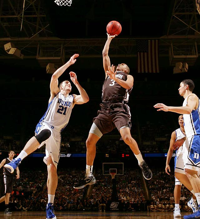 C.J. McCollum scored 30 points and Lehigh upset Duke 75-70 to become the second No. 15 seed to beat a No. 2 during a wild Friday in the NCAA tourney. The Mountain Hawks are the sixth No. 15 seed to pull off the trick. Duke dropped its first tournament game for only the second time in the past 16 years, and this one occurred just 55 miles from its campus.
