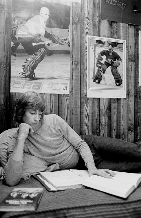 The teen phenom, seen here in his room at the Bodner family's house in Sault Ste.Marie, tried to keep up with his schoolwork as a pro career loomed.