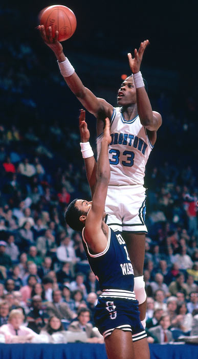 Patrick Ewing made an immediate impact on the Hoyas, improving their win total from 20 to 30 games in his freshman year.