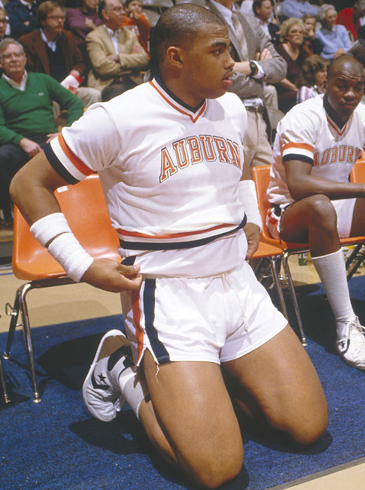 During Barkley's three years at Auburn, he averaged 15 points, 9.6 rebounds, 1.6 assists and 1.7 blocks per game. The school retired Barkley's No. 34 jersey in 2001.