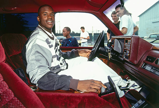 Shaquille O'Neal shows off his ride.