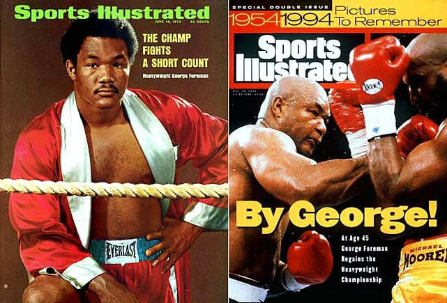 Though inelegant at times, Big George was an irresistible offensive force. In 1987, after a 10-year layoff, he returned older and heavier but smarter than ever and nearly as effective.
