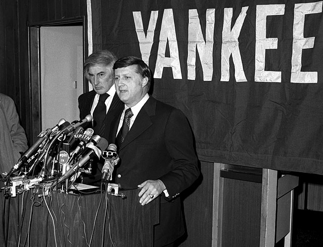 "<b><i>""I won't be active in the day-to-day operations of the club at all.""</b></i>  -- upon purchasing the Yankees in 1973. (He proceeded to become the most meddlesome owner in the history of sports.)<br><br>Honorable mention: <br><b><i>""Owning the Yankees is like owning the Mona Lisa.""</b></i>"