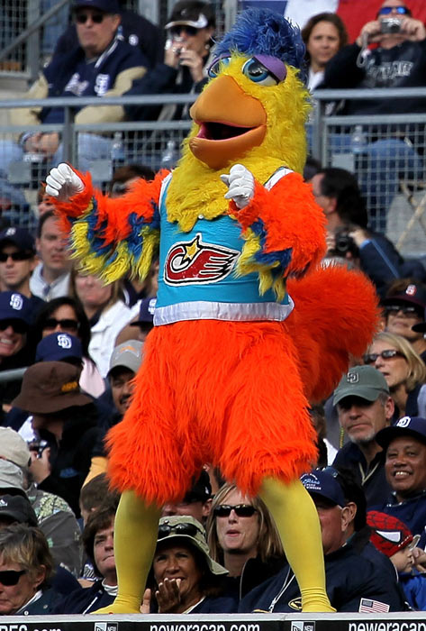 In 1975, a San Diego State student named Ted Giannoulas donned a rented chicken suit and attended a Padres game to promote a local radio station, marking the birth of the professional sports mascot. To celebrate the San Diego Chicken's 35th anniversary, SI takes a look at some of baseball's most popular mascots.