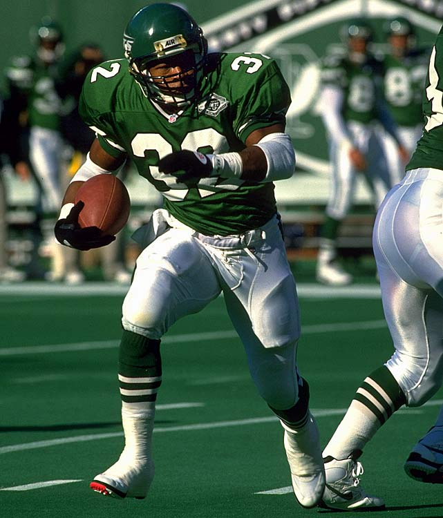 Thomas' utter failure as a pro helped solidify every Jets fan's certainty that their team could do no right on draft day. Whatever intangible element that makes a great NFL running back, the former Penn State star didn't have it. Thomas reached the end zone just seven times in four undistinguished seasons in New York. The Cowboys landed Emmitt Smith 15 picks after Thomas in the 1990 draft.