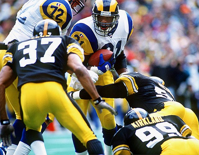 The NFL began psychological testing for draft prospects because of players like Lawrence Philips. A speedster out of Nebraska, Phillips may have gone even higher if he hadn't pleaded no contest to domestic-violence charges while in college. Rams coach Dick Vermeil thought he could control the troubled back, but St. Louis released Phillips a year after drafting him. The troubled back never found a permanent NFL home.