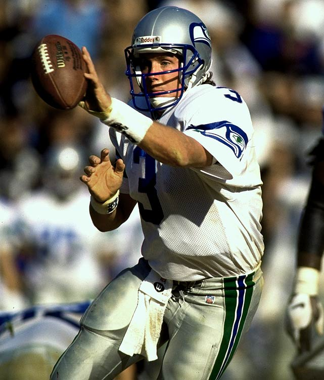 After observing Mirer at Notre Dame, Bill Walsh called him the second-coming of Joe Montana. Mirer wasn't even the second coming of Joe Pisarcik. The Seahawks took Mirer after Drew Bledsoe, and in four seasons Mirer tossed 41 TDs and 56 INTs. Mirer has the distinction of being a huge bust for two teams. The Bears traded a first-round pick to Seattle for Mirer in 1997. He never won Chicago's starting job.