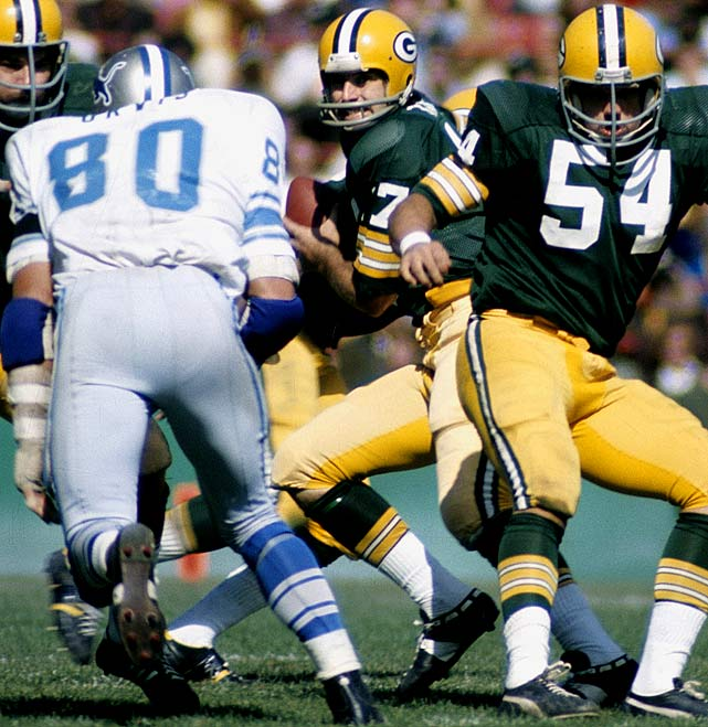 """Tagge played on national championship Nebraska teams in 1970 and 1971 before joining the Packers. But Tagge was no match for NFL defenses, as he passed for just three touchdowns (and 17 interceptions) over three seasons. Years later, Tagge was named an all-star of the Canadian Football League, but he could never shed the """"bust"""" label."""