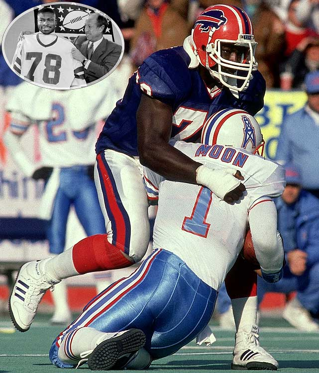 Buffalo nabbed the reigning Outland Trophy winner and consensus All-America selection out of Virgina Tech with the draft's top pick in 1985. En route to 19 years with the Bills and Redskins, 11 Pro Bowls, four Super Bowl appearances and an NFL-record 200 sacks, Smith cemented himself as one of the most intimidating defensive forces in NFL history, and was rewarded with a Hall of Fame nod in 2009.