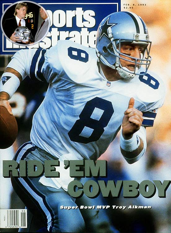 After finishing 3-13 during the 1988 season, the Cowboys made Troy Aikman the franchise's first pick of the post-Landry era. Dallas stumbled to a 1-15 mark during Aikman's rookie year, with the UCLA product going 0-11 as a starter. But things would turn around quickly, with Aikman winning his third Super Bowl title by his seventh NFL season.