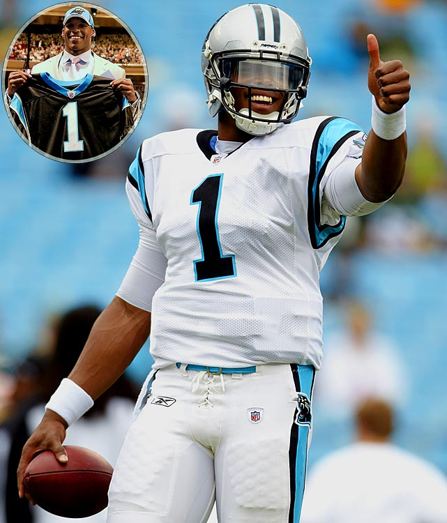 The first quarterback since 2003 to be drafted No. 1 overall the spring after he won the Heisman, Newton proved his many detractors wrong as a rookie. He set the NFL record for most rushing touchdowns by a QB in a season (14) and his 4,051 passing yards were the most by a rookie in a season.