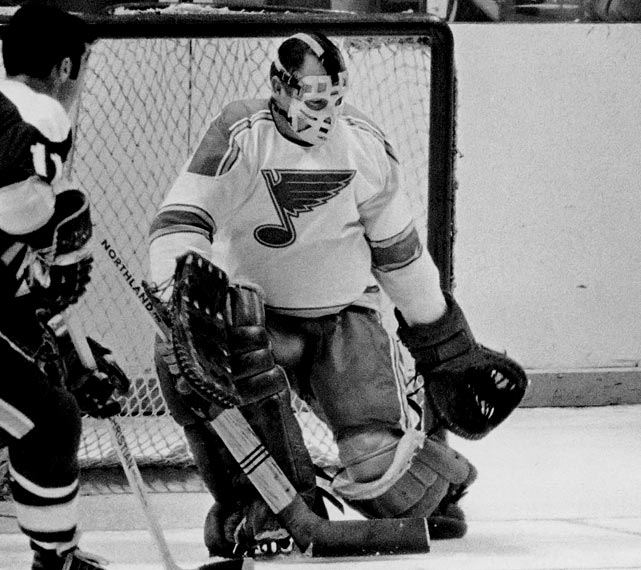 The Blues were an anomaly -- an expansion team that reached the Stanley Cup Final in each of its first three seasons. They lost each time, but Hall of Famer Hall, whom they had chosen in the expansion draft even though he was 36 years old, put up a valiant, Smythe-winning effort that was reflected more by his GAA (2.43) than his won-loss mark (8-10).