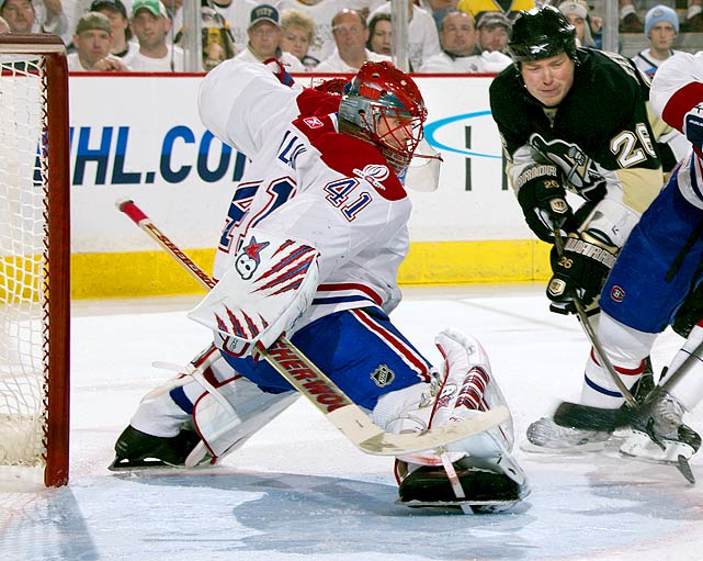 Making 420 often spectacular stops in 13 games, with an NHL-best save percentage of .933, Halak was the cornerstone of Montreal's stunning upsets of the Presidents' Trophy-winning Capitals and defending Stanley Cup champion Penguins in the first two rounds. Should he carry the Canadiens to the Cup final, Halak will join the ranks of the following goaltenders.